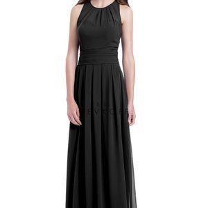 Bill Levkoff black bridesmaids dress.